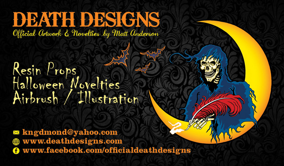 Death Designs Official Artwork by Matt Anderson